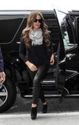 Kate Beckinsale in Black Leather Pants at LAX Airport 09/20/13 (HQ)